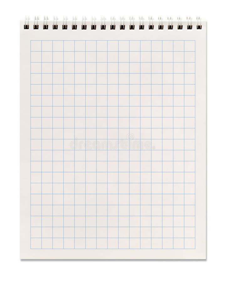 Cuaderno espiral ajustado imagen de archivo