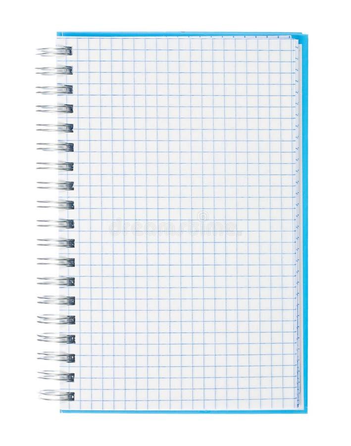 Cuaderno espiral del papel de gráfico   foto de archivo libre de regalías