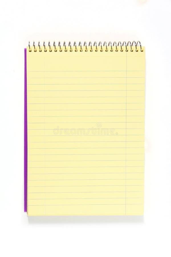 Cuaderno espiral en blanco fotografía de archivo libre de regalías