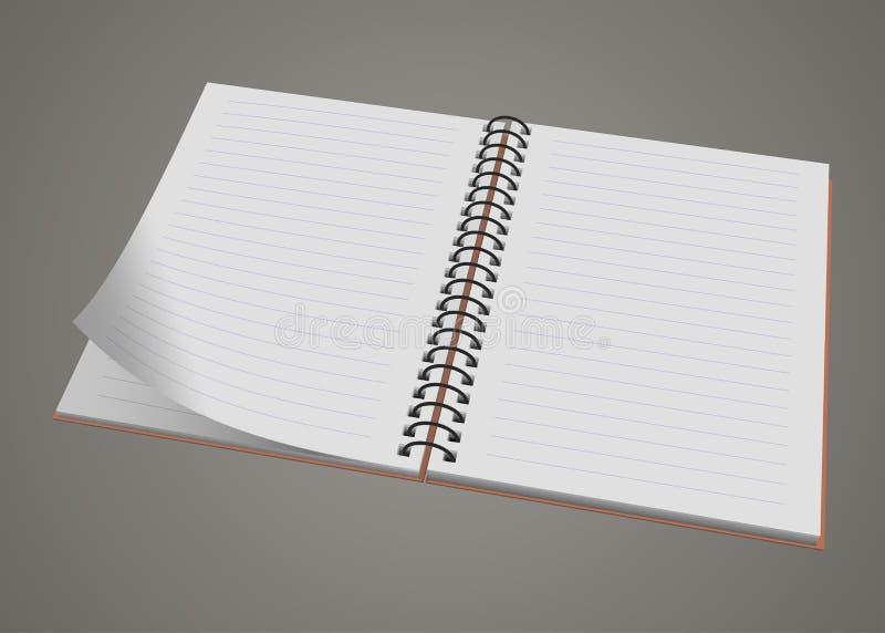 Cuaderno espiral realista en blanco de la libreta aislado fotos de archivo libres de regalías