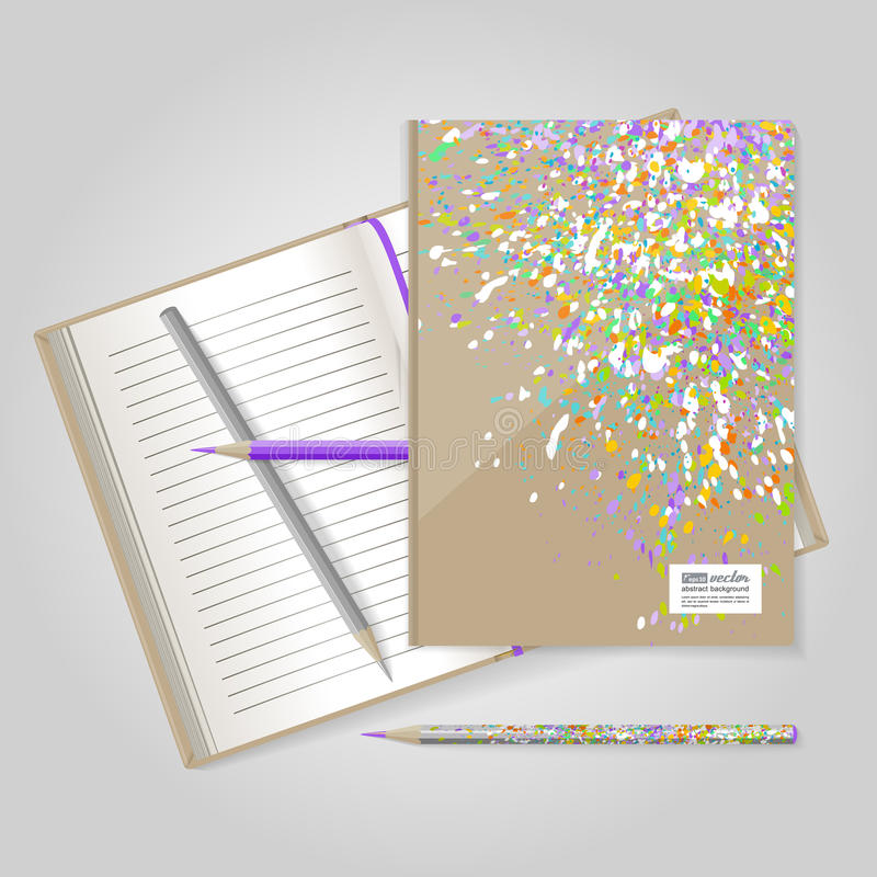 Cuaderno Explosión colorida ilustración del vector