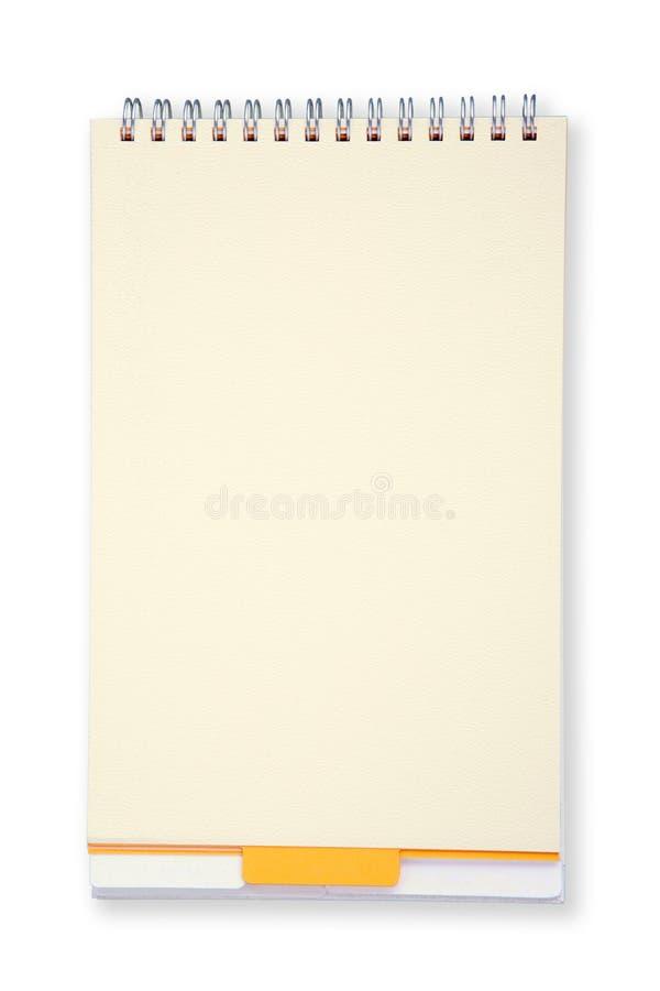 Cuaderno listo para los expedientes foto de archivo