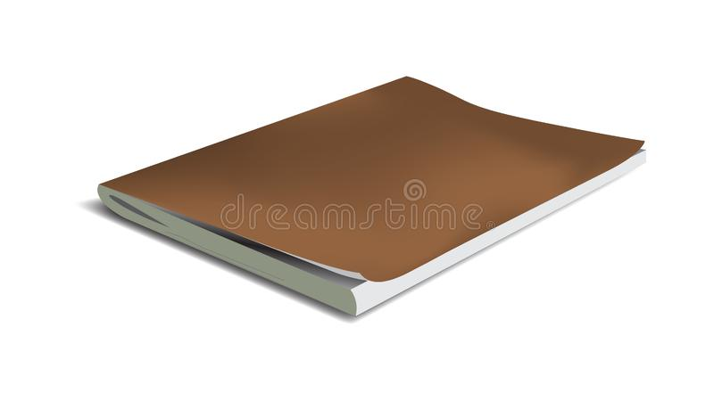 Cuaderno realista del vector aislado en un fondo blanco libre illustration