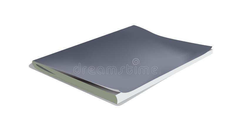 Cuaderno realista del vector aislado en un fondo blanco ilustración del vector