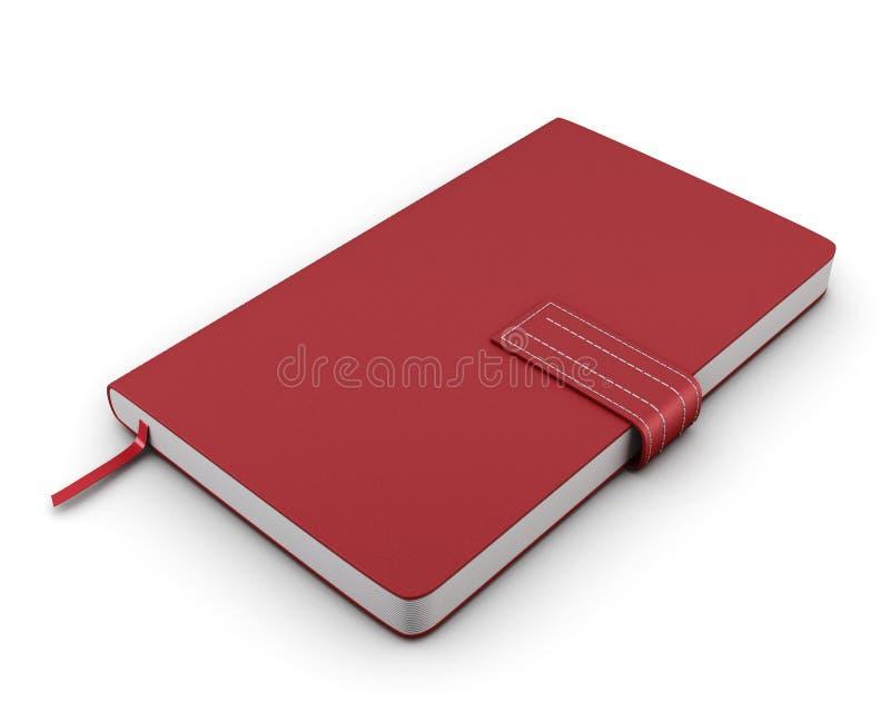 Cuaderno rojo para las notas stock de ilustración