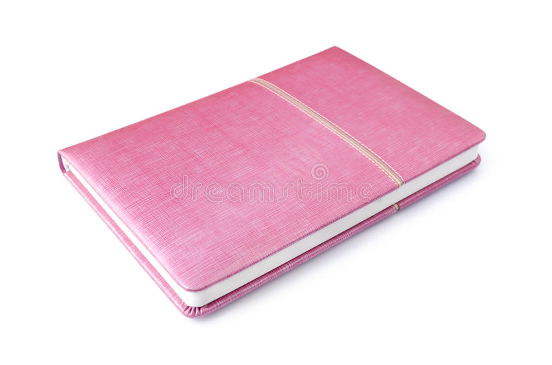 Cuaderno rosado aislado imágenes de archivo libres de regalías