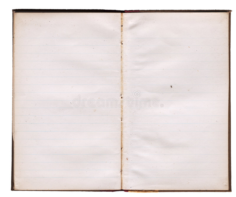 cuaderno sucio de los años 30 fotos de archivo