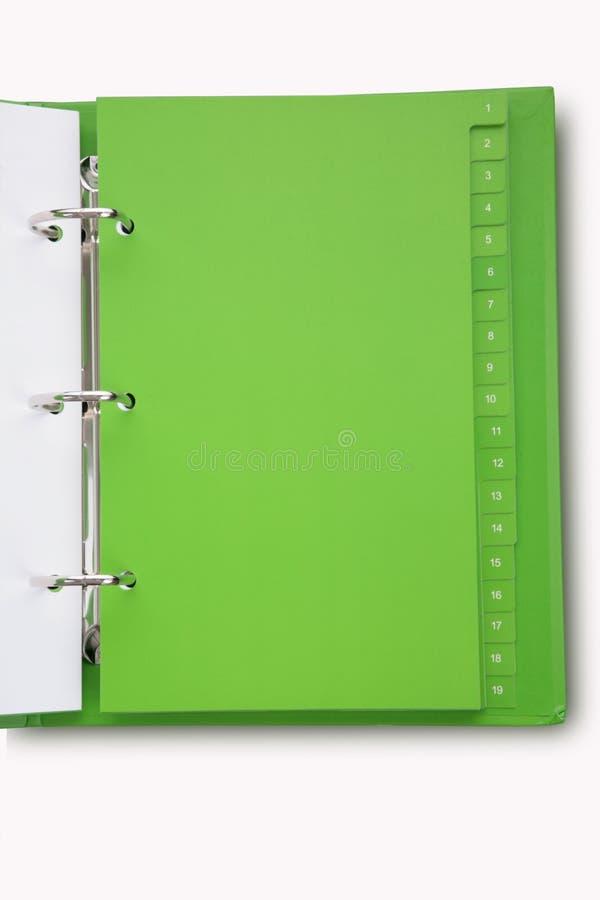 Cuaderno verde imagen de archivo libre de regalías