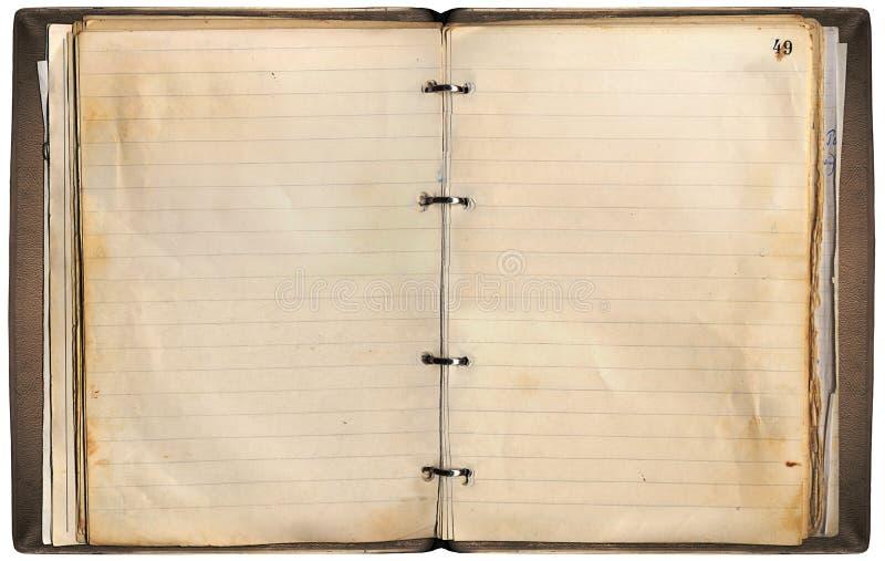 Cuaderno viejo fotografía de archivo libre de regalías