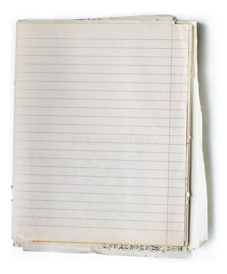 Cuaderno viejo fotos de archivo