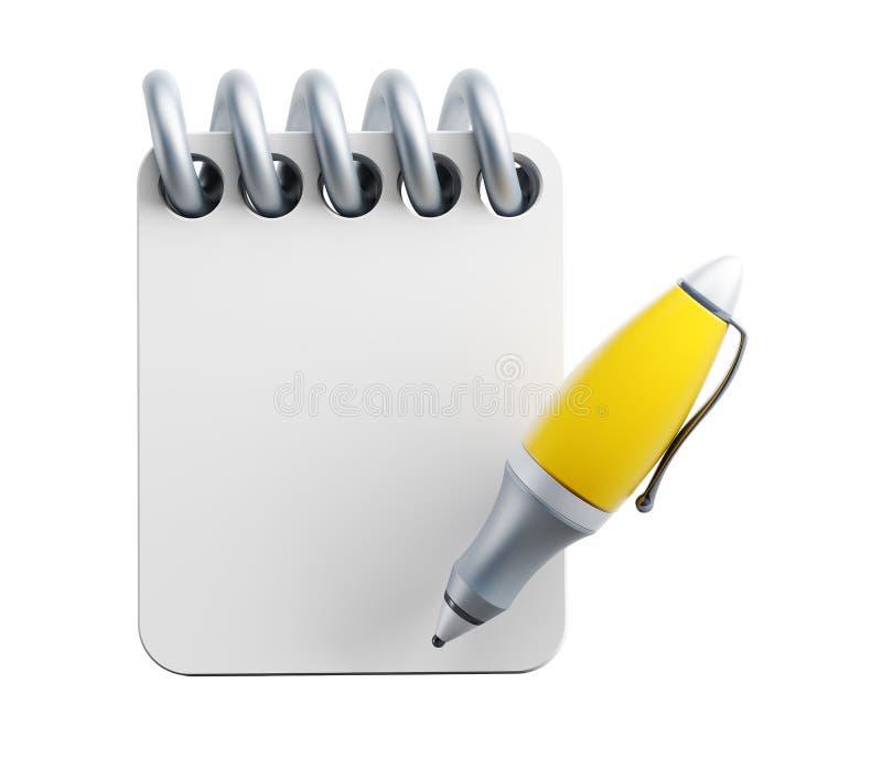 Cuaderno y pluma libre illustration