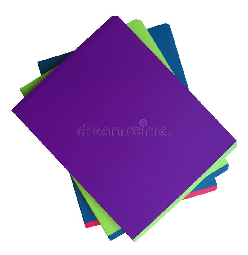 Cuadernos aislados - colorido imagen de archivo