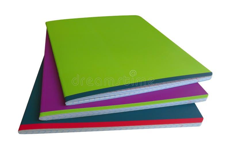Cuadernos aislados - colorido fotografía de archivo libre de regalías