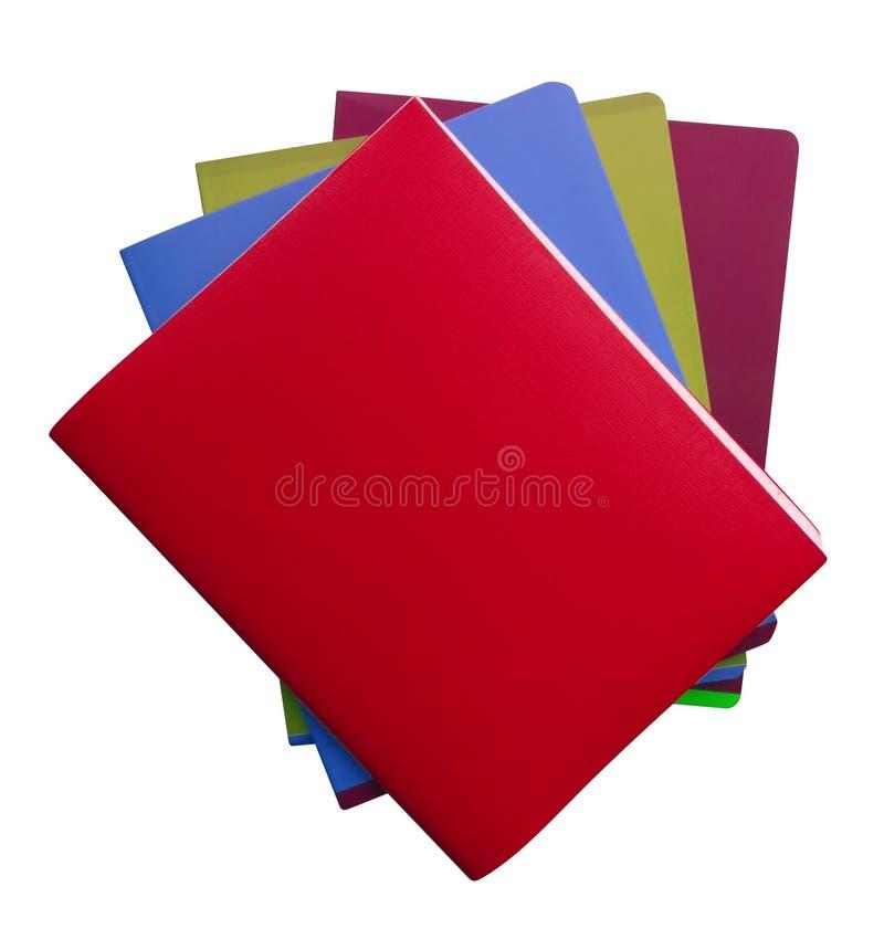 Cuadernos aislados - colorido fotos de archivo libres de regalías