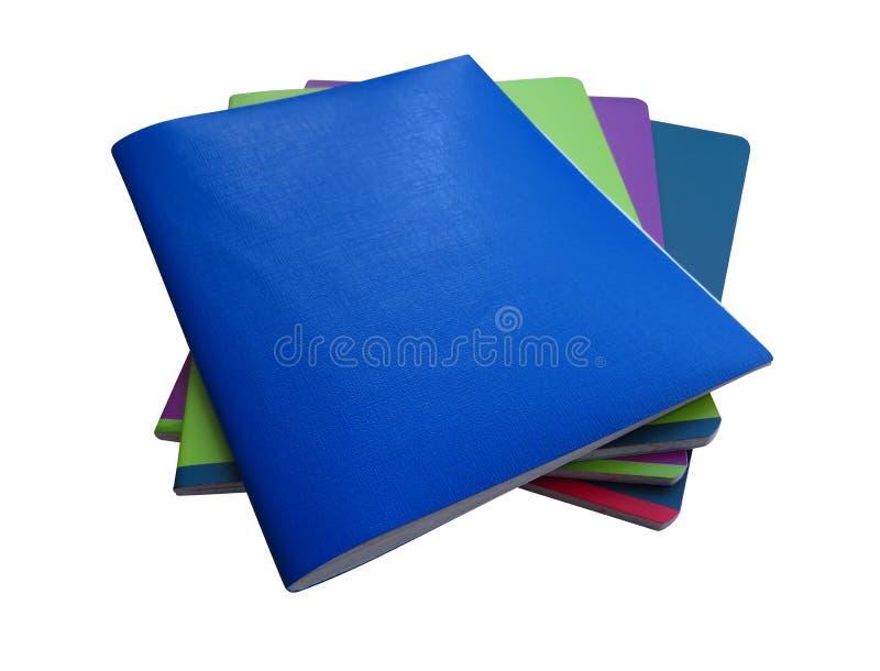 Cuadernos aislados - colorido imagen de archivo libre de regalías