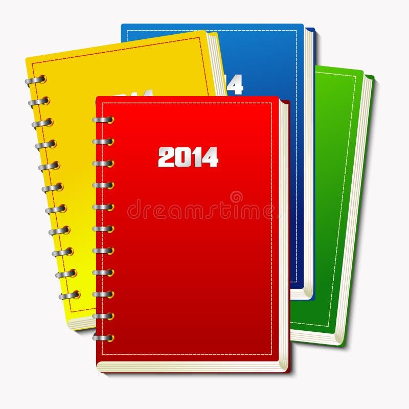 Cuadernos espirales stock de ilustración