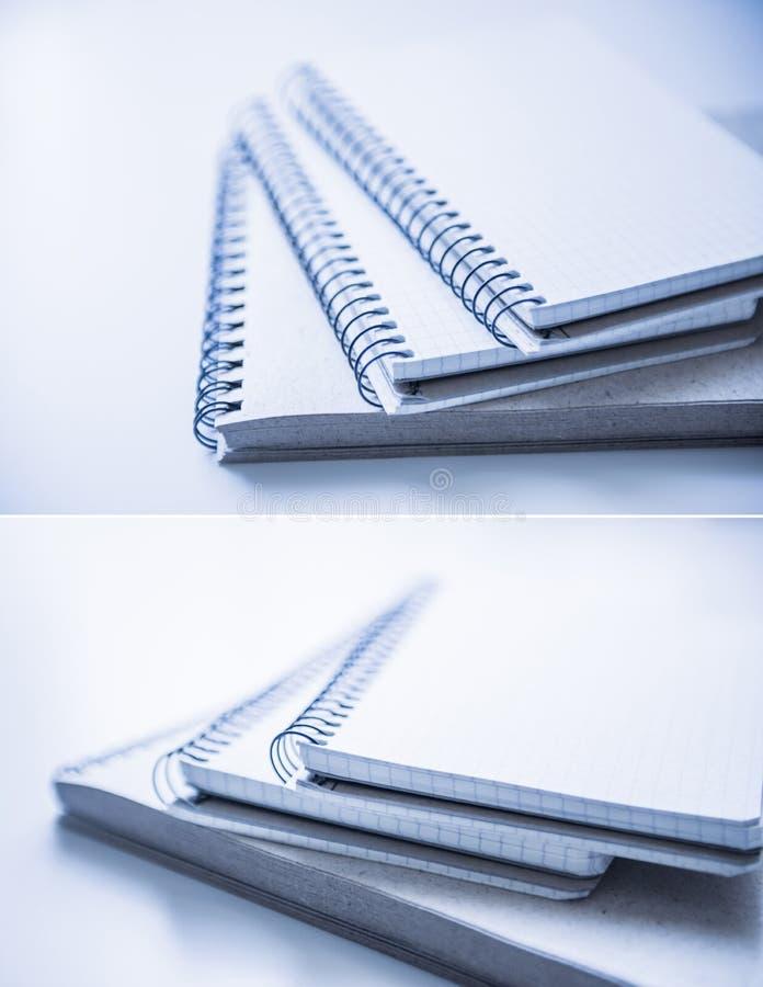 Cuadernos espirales imágenes de archivo libres de regalías