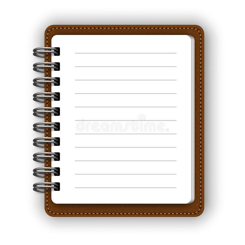 Cuadernos espirales de papel ilustración del vector