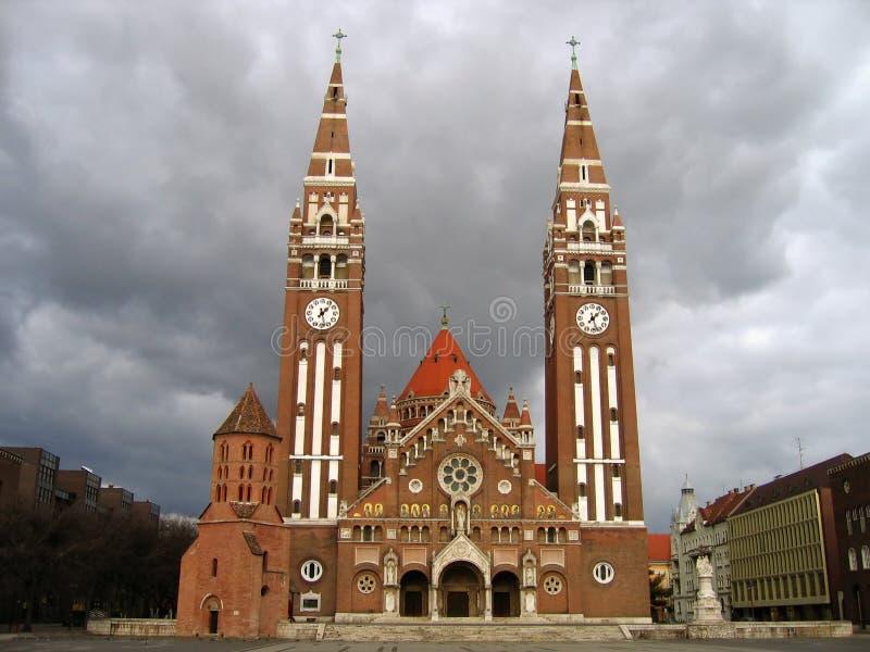 Cuadrado 06, Szeged, Hungría de los Dom fotografía de archivo