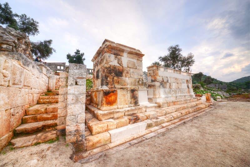 Cuadrado Andriake-Demre-Antalya de Germanicus fotografía de archivo libre de regalías