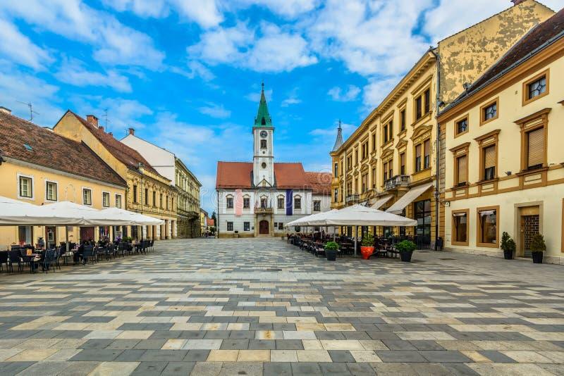 Cuadrado barroco en Varazdin, Croacia imagen de archivo libre de regalías