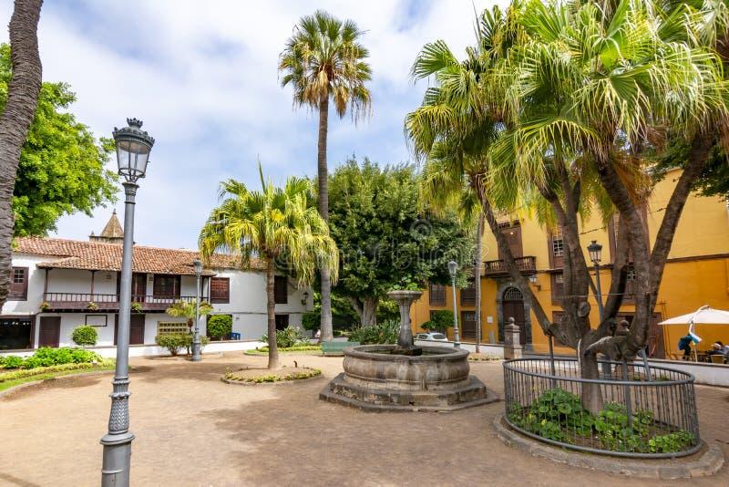 Cuadrado central de Icod de los Vinos, Tenerife, islas Canarias, España imagen de archivo libre de regalías