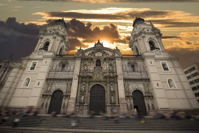 cuadrado central de Lima fotografía de archivo libre de regalías
