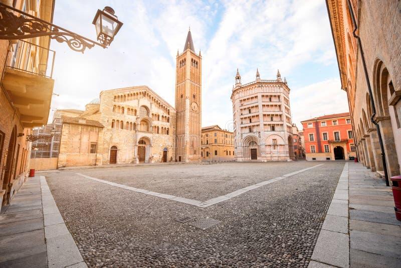 Cuadrado central de Parma fotos de archivo