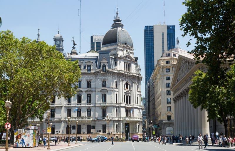 Cuadrado central de Plaza de Mayo de Buenos Aires fotografía de archivo