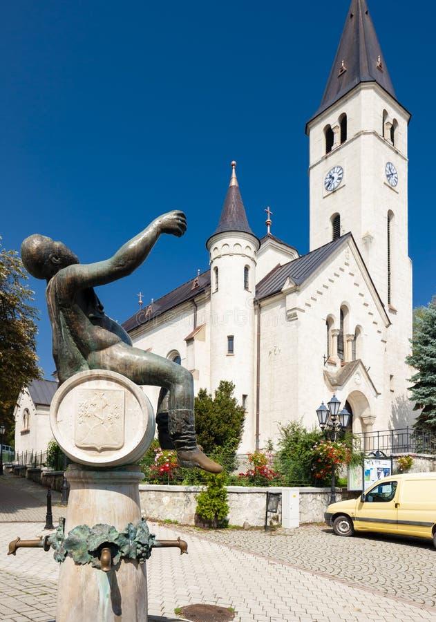 cuadrado central en Tokaj, Hungría imagen de archivo libre de regalías