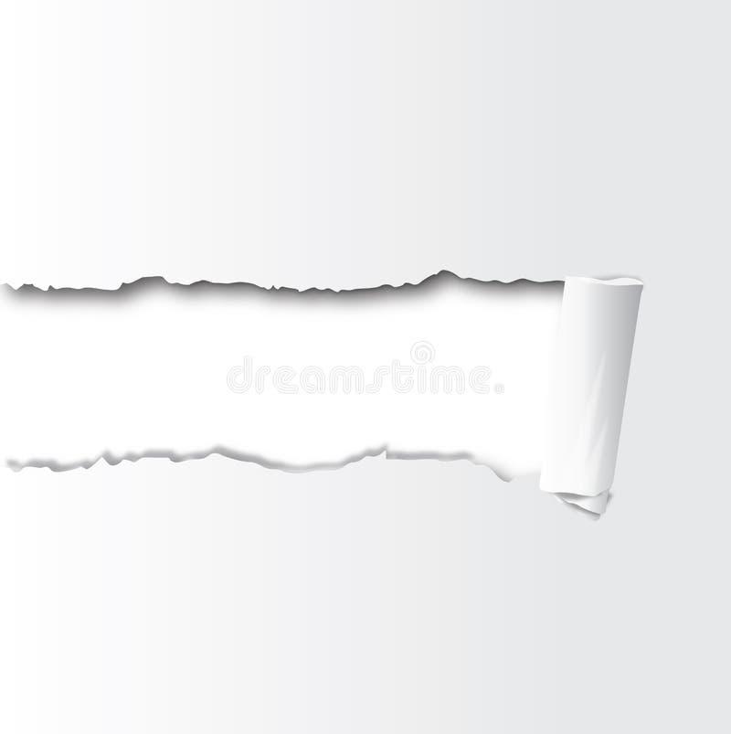 Cuadrado con el papel torned central libre illustration