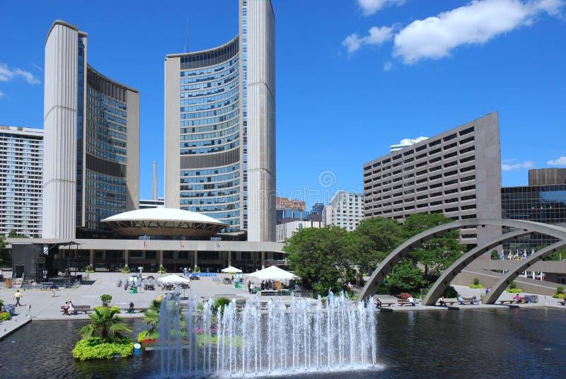 Cuadrado de ayuntamiento de Toronto fotos de archivo