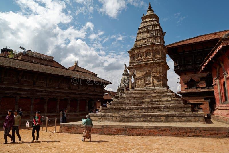 Cuadrado de Bhaktapur Durbar fotos de archivo