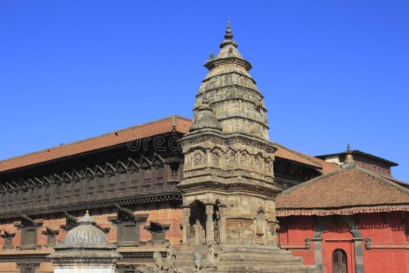 Cuadrado de Bhaktapur Durbar fotografía de archivo