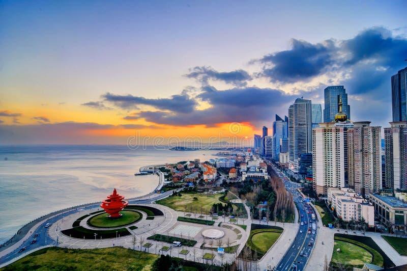 Cuadrado de ciudad en Qingdao imagen de archivo libre de regalías
