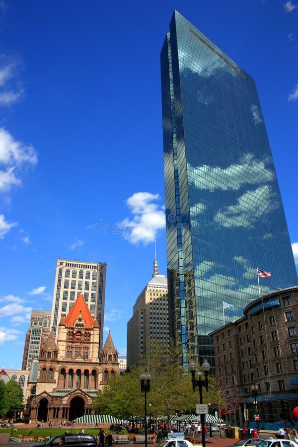 Cuadrado de Copley, Boston foto de archivo