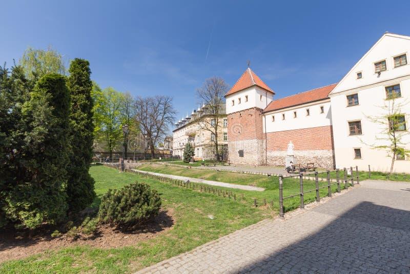 Cuadrado de Gliwice/de ciudad y arquitectura histórica fotografía de archivo