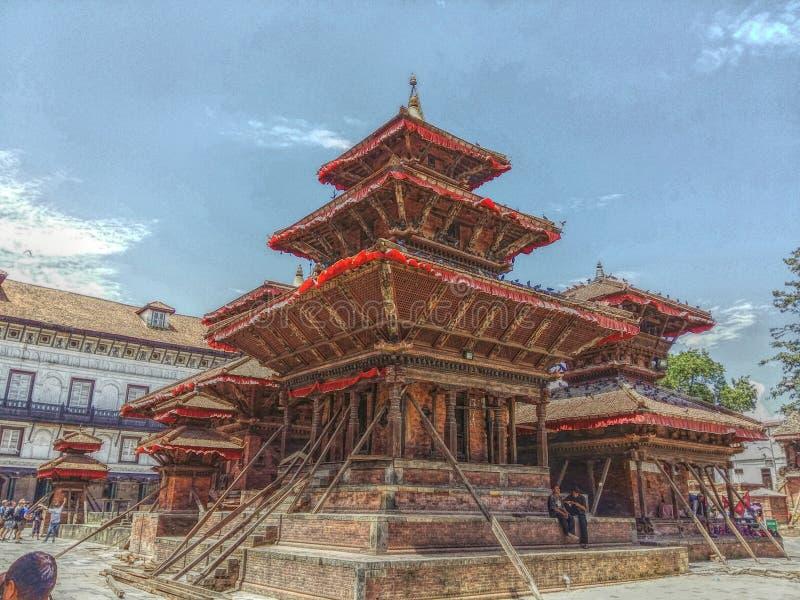 Cuadrado de Hanumandhoka Durbar imágenes de archivo libres de regalías