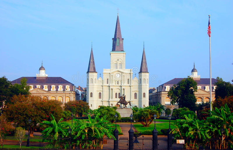 Cuadrado de Jackson, New Orleans. fotografía de archivo