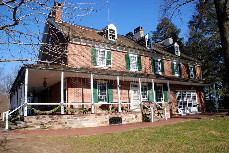 Cuadrado de Kennett, PA: casa 1730 de Pierce-Du Pont foto de archivo