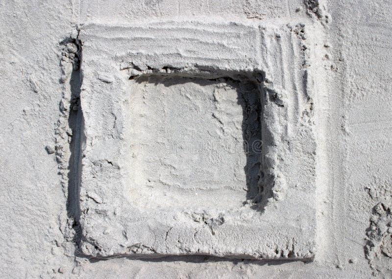 Cuadrado de la arena imagenes de archivo