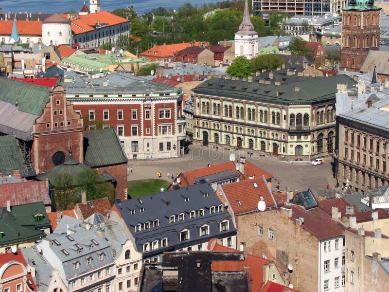 Cuadrado de la bóveda en Riga imagen de archivo libre de regalías