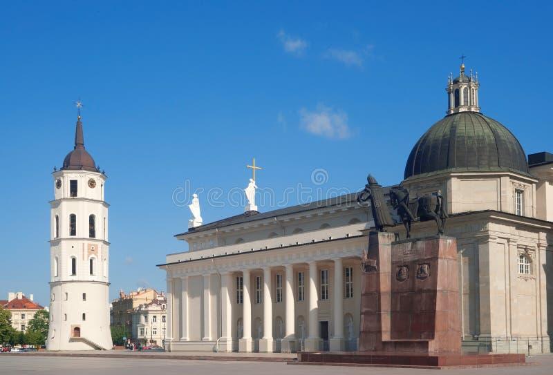 Cuadrado de la catedral de Vilnius fotos de archivo libres de regalías