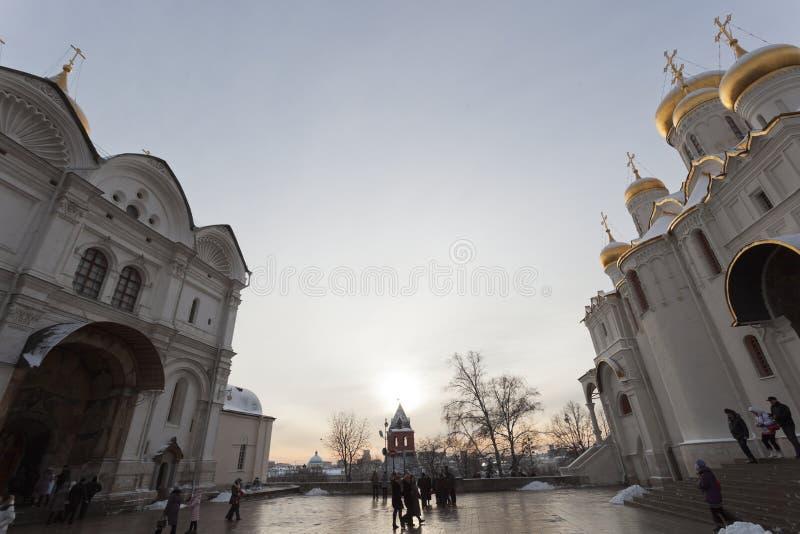 Cuadrado de la catedral en Kremlin. Moscú. Rusia. fotografía de archivo