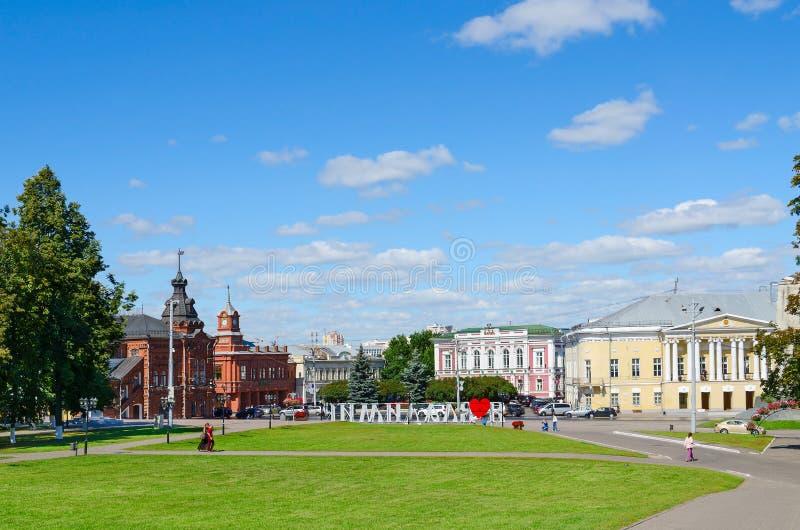 Cuadrado de la catedral, Vladimir, Rusia foto de archivo