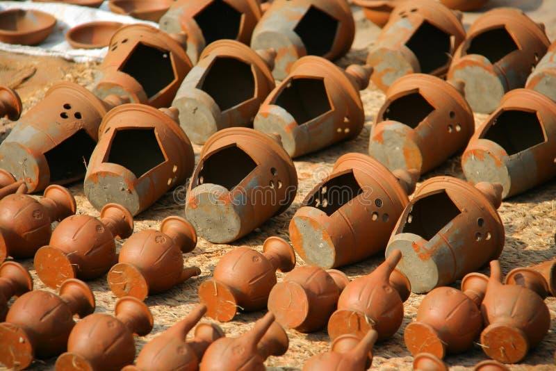 Cuadrado de la cerámica en Bhaktapur, Katmandu, Nepal fotos de archivo libres de regalías
