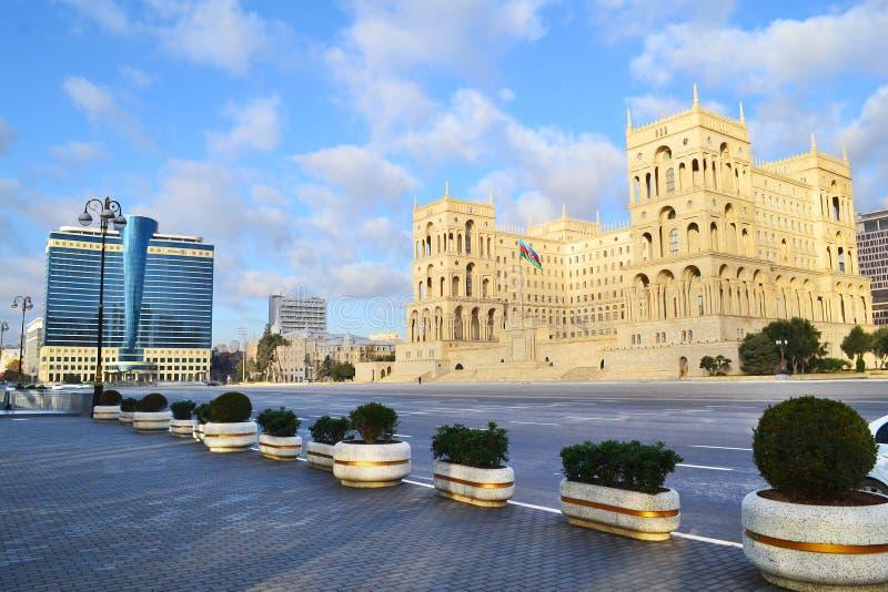 Cuadrado de la libertad en Baku fotografía de archivo libre de regalías