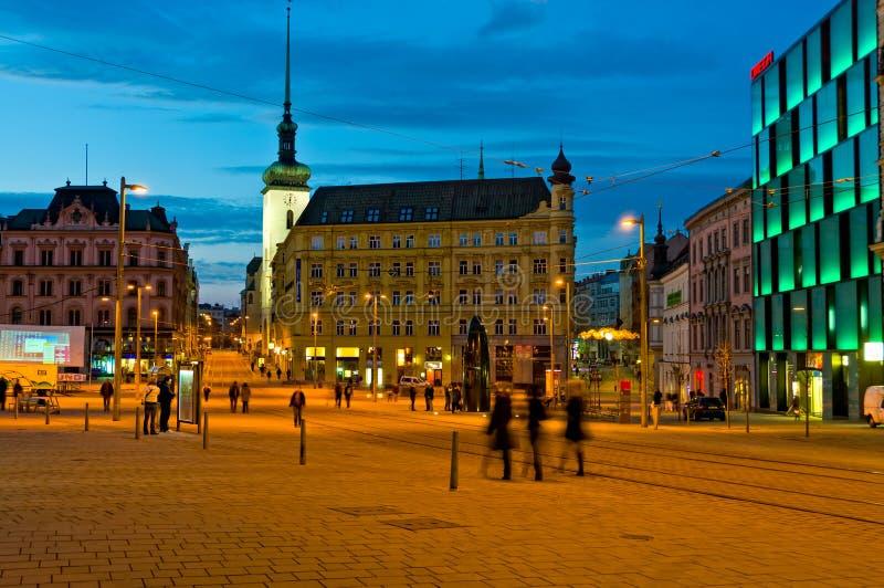 Cuadrado de la libertad en Brno. imágenes de archivo libres de regalías