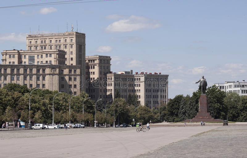 Cuadrado de la libertad en Járkov foto de archivo libre de regalías