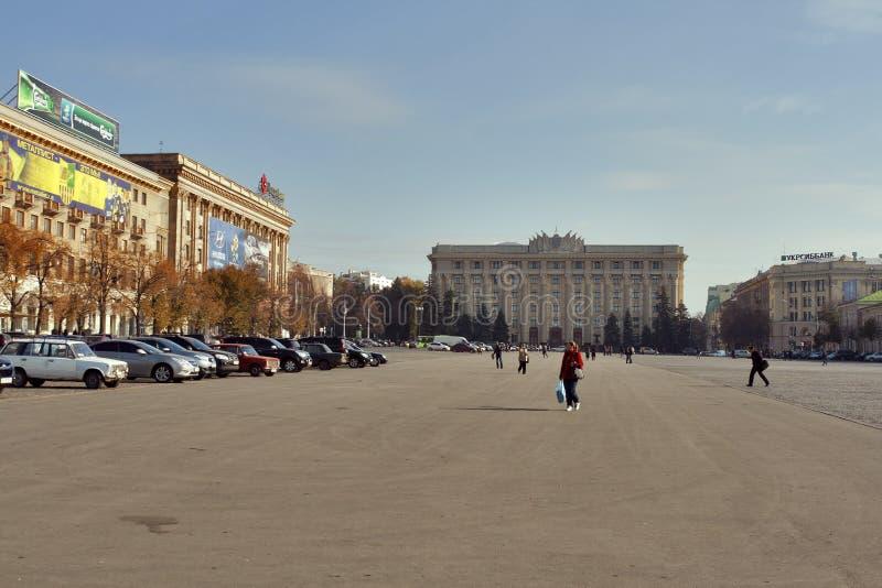 Cuadrado de la libertad en Kharkov, Ucrania imagen de archivo libre de regalías